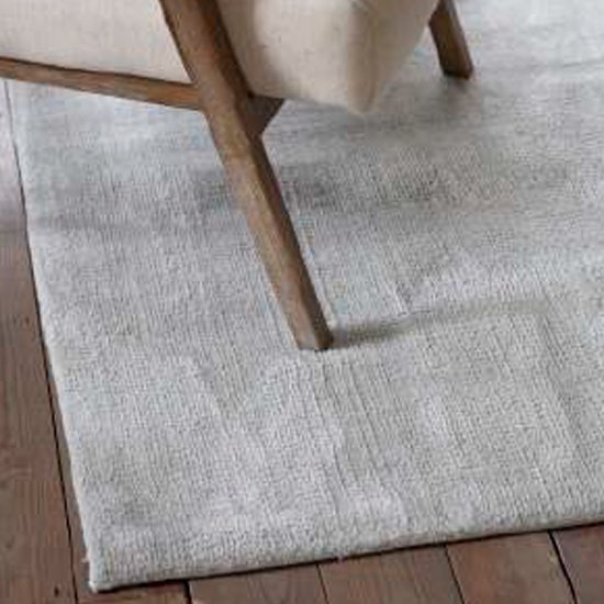 Trivago Medium Fabric Upholstered Rug In Silver_3
