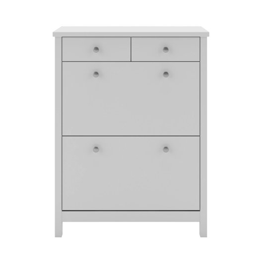 Tromso Shoe Storage Cabinet In White With 4 Drawers_2