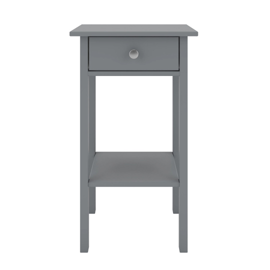 Tromso Wooden Bedside Cabinet In Grey With 1 Drawer_2