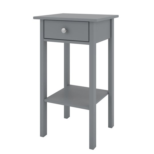 Tromso Wooden Bedside Cabinet In Grey With 1 Drawer_3