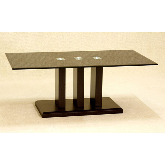 Troy Black Glass Coffee Table