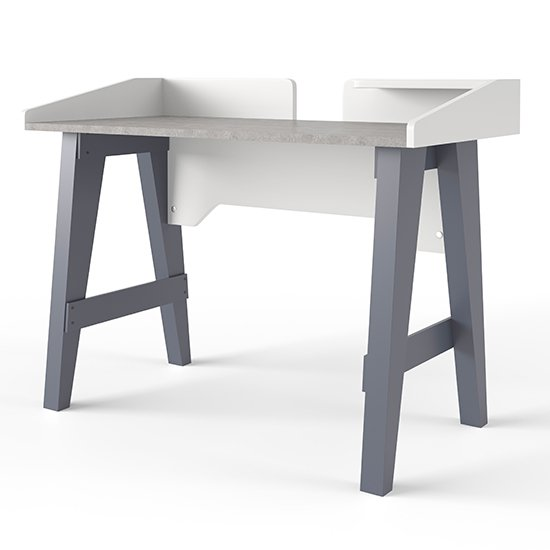 Truro Wooden Computer Desk In Grey