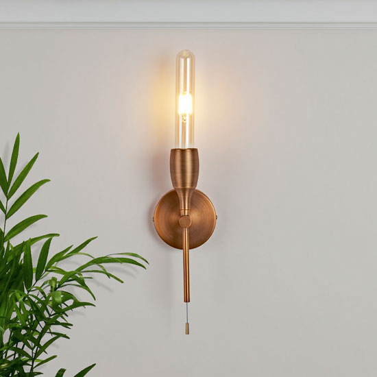 Tubes 1 Lamp Wall Light In Bronze