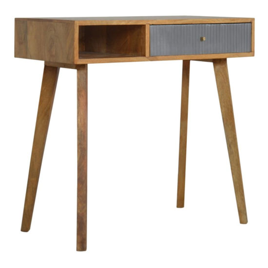 Tufa Wooden Study Desk In Grey And Oak Ish_1