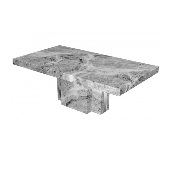 View Tulia marble coffee table in grey with mirrored side panels