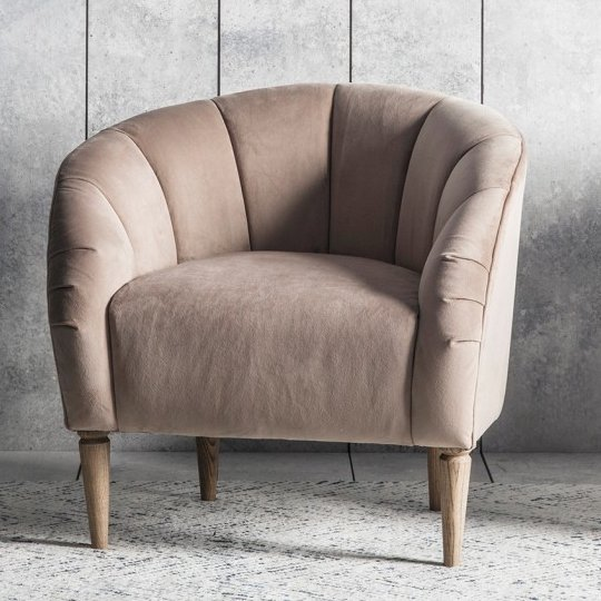 Tulip Bedroom Chair In Wheat Velvet