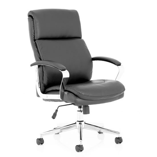 View Tunis leather executive office chair in black