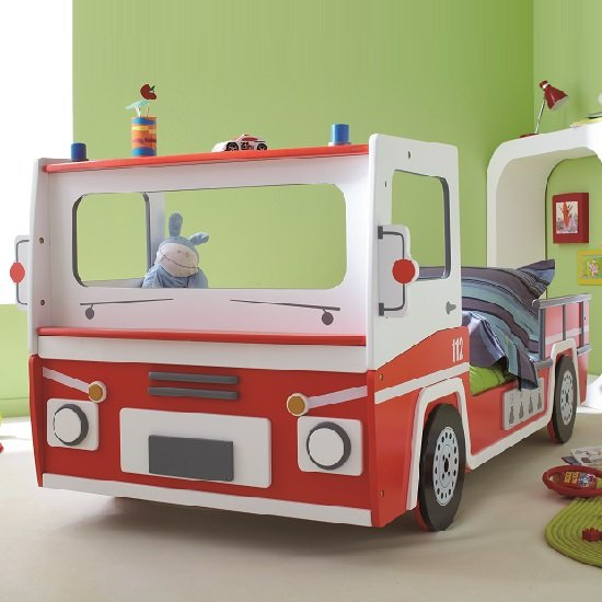Turbo Boys Childrens Car Bed In Red And White