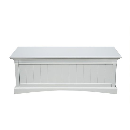 Turner Wooden Blanket Box In Grey