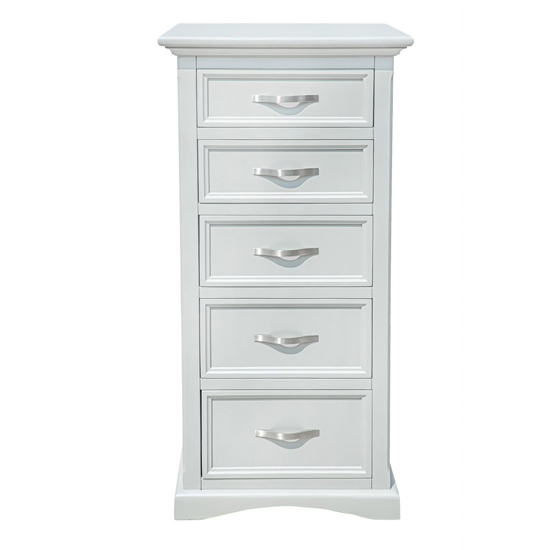 Turner Wooden Tall Chest Of Drawers In Grey