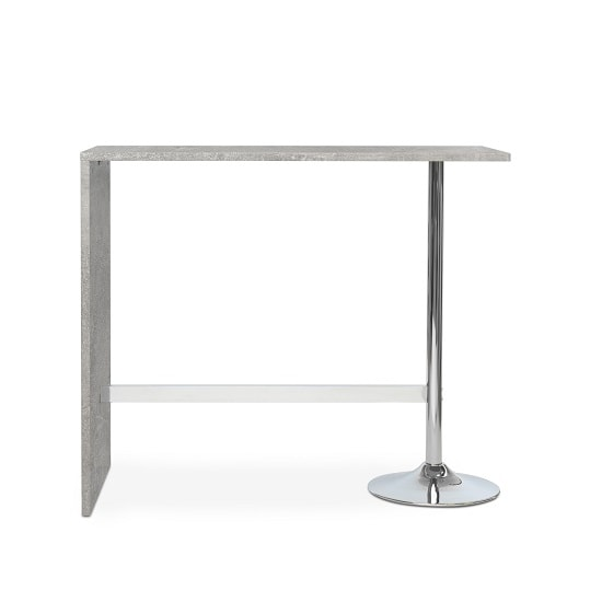 Tuscon Bar Table In Concrete Effect With Chrome Legs_2