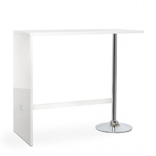 Tuscon Bar Table In White Gloss With 2 Ripple Grey Bar Stools_2