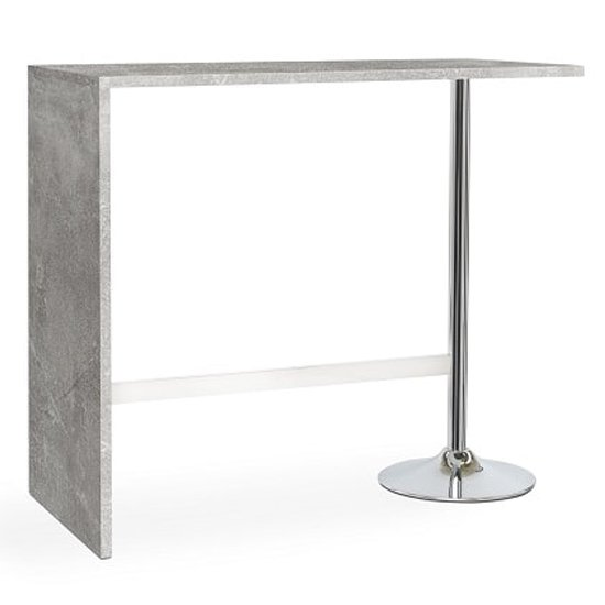 Tuscon Concrete Effect Bar Table With 2 Coco Black Bar Stools_2