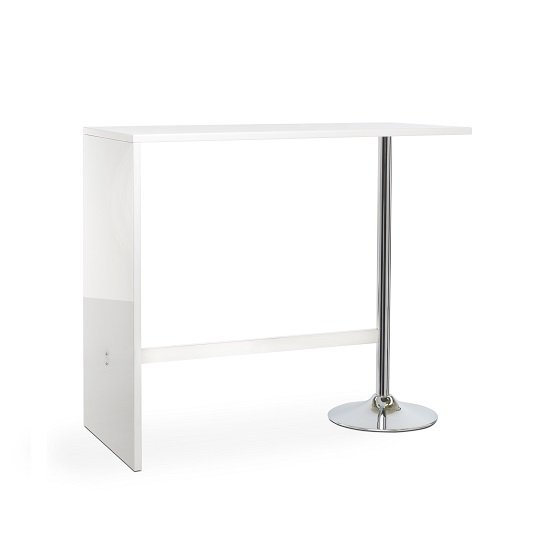 Tuscon Bar Table In White High Gloss With Chrome Legs_3