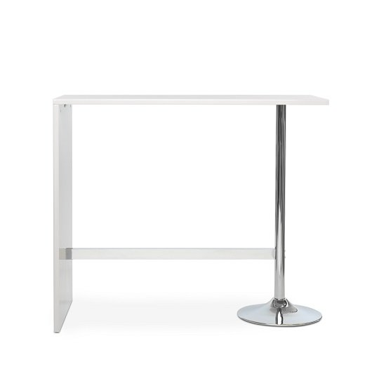 Tuscon Bar Table In White High Gloss With Chrome Legs_4