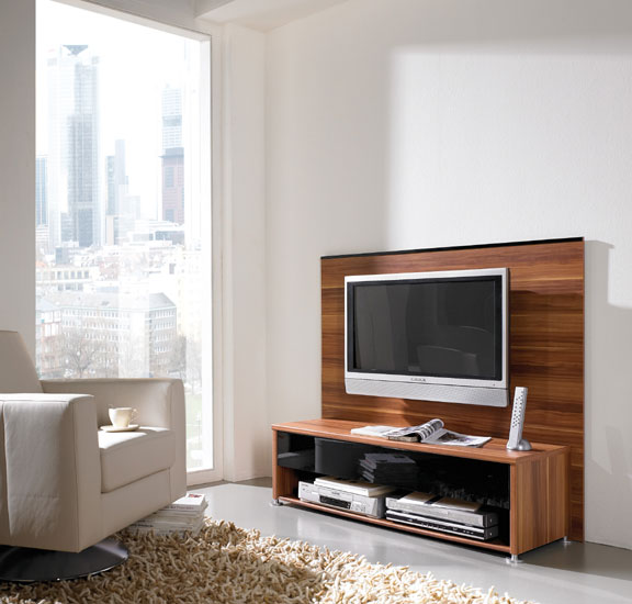 Plasma TV Entertainment Unit In Walnut