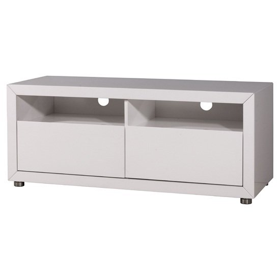 Fino Gloss White 2 Drawer TV Stand