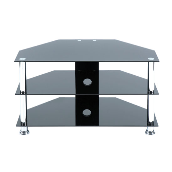 tv stand TV700800BCH - 6 Functional Reasons To Choose Black Glass Corner TV Stand With Doors