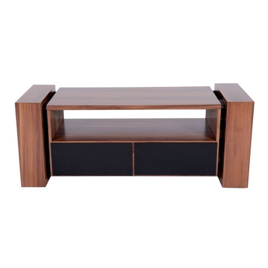 Premier Range Wooden TV Stand In American Walnut