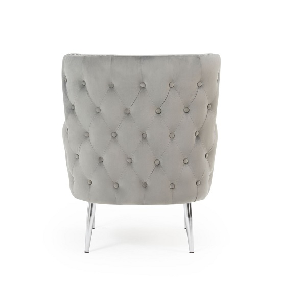Tyrell Modern Accent Chair In Grey Velvet With Metal Legs_3