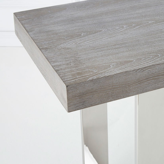 Ulmos Rectangular Wooden Console Table In Muted Grey_4