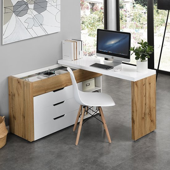 View fantastic selections of solid, white and oak wooden computer desks
