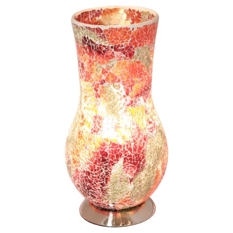 Mosaic Red Vase Lamp