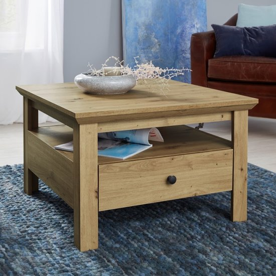Universal Coffee Table In Artisan Oak With 1 Drawer