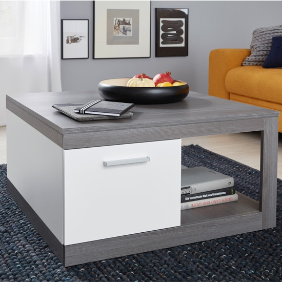 Universal Coffee Table In Sardegna Smoky Silver And White