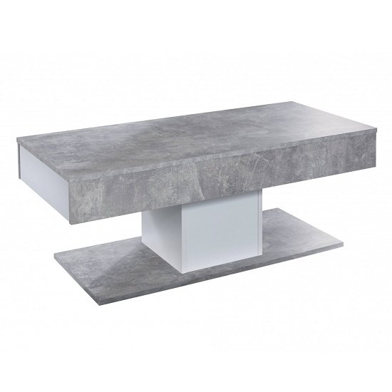 Universal Wooden Coffee Table In Stone Grey With Storage_3