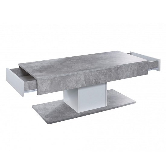 Universal Wooden Coffee Table In Stone Grey With Storage_4