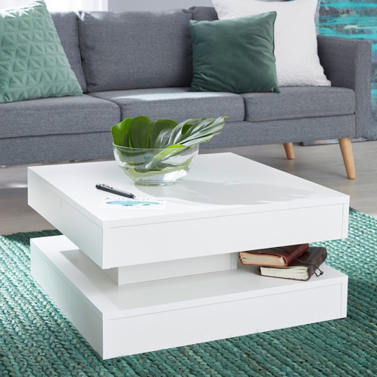 Universal Wooden Coffee Table In White