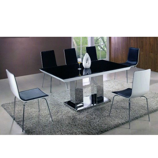 Dune Gloss White Dining Table And 6 Bentwood Chairs