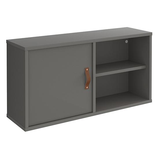 View Upton box storage unit in onyx grey with grey door and shelf