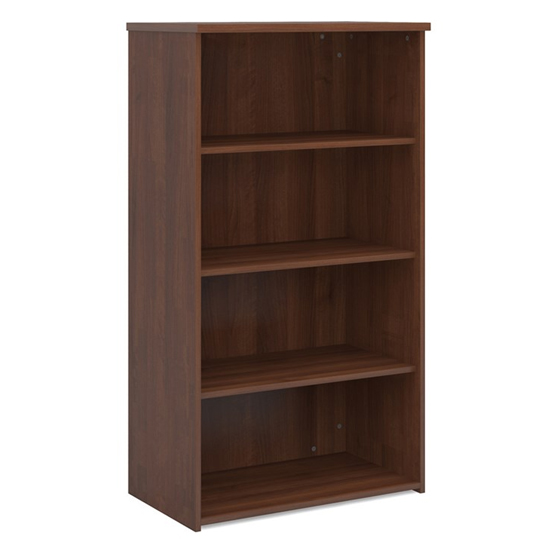 Upton Home And Office Wooden Bookcase In Walnut With 3 Shelves