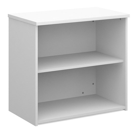 Upton Home And Office Wooden Bookcase In White With 1 Shelf