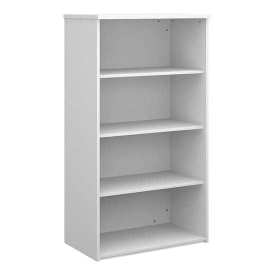Upton Home And Office Wooden Bookcase In White With 3 Shelves