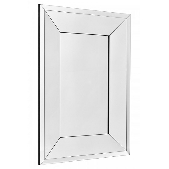 View Uranus small rectangular bevelled wall mirror