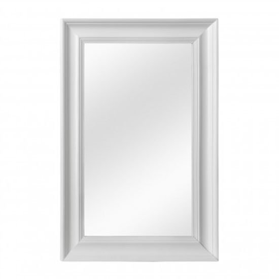 Urbana Wall Bedroom Mirror In Cool White Frame