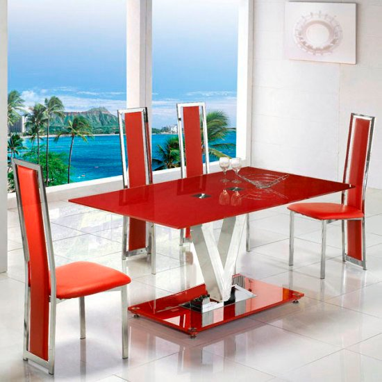 v range red dining table - Contemporary Furniture, Be Smart and Make Your Home Art