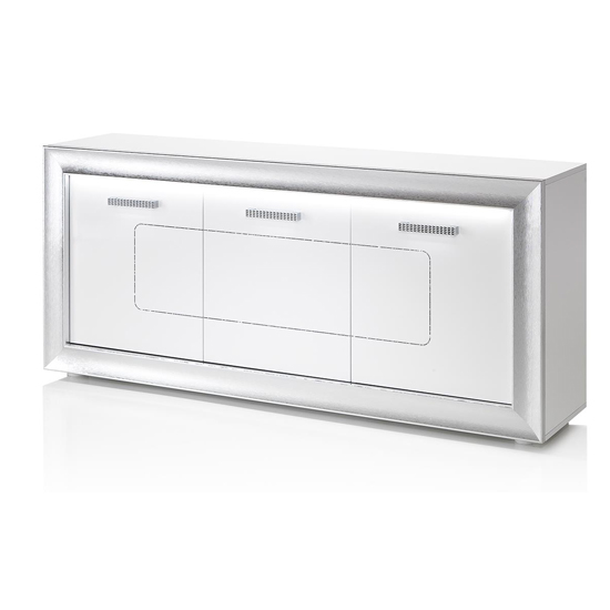 Claire Wooden Sideboard In White High Gloss With LED