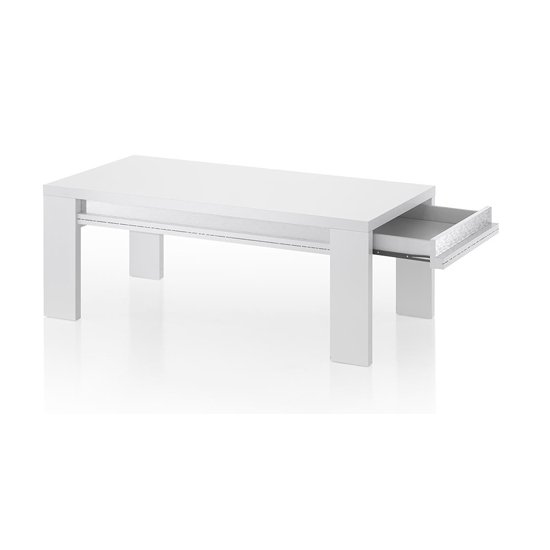 Claire Wooden Storage Coffee Table In White High Gloss