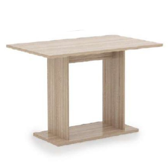 Vageo Wooden Rectangular Dining Table In Sonoma Oak