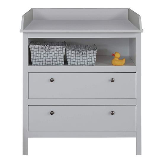 Valdo 2 Drawers Storage Cabinet With Changer Top In White_3
