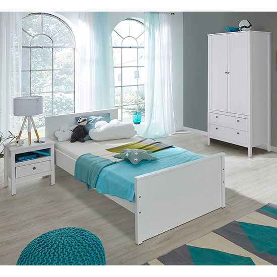 Valdo Baby Room Wooden Furniture Set 12 In White_1