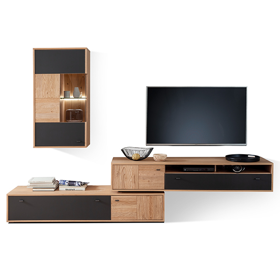 Valencia LED Living Room Furniture Set 3 In Oak And Anthracite_2