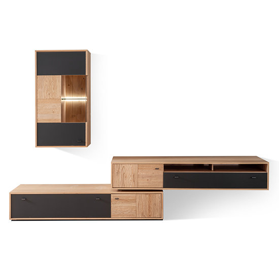Valencia LED Living Room Furniture Set 3 In Oak And Anthracite_3