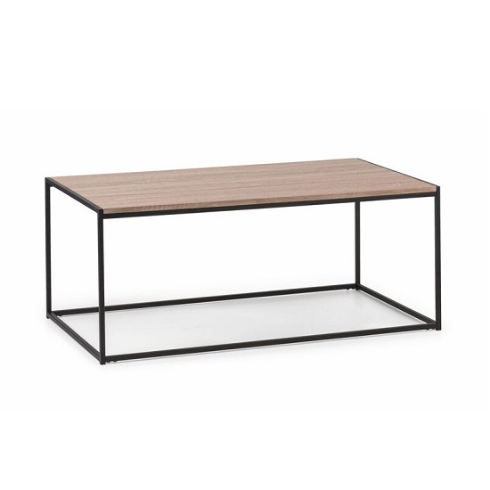 Valencia Coffee Table In Sonoma Oak And Black Metal Frame_2