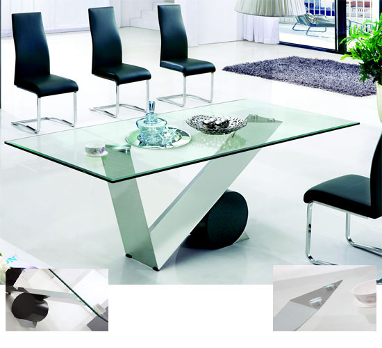 valentino dining table larg - 6 Modern Glass Dining Tables From Furniture in Fashion