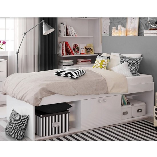 Valerie Low Sleeper Cabin Storage Bed In White_1